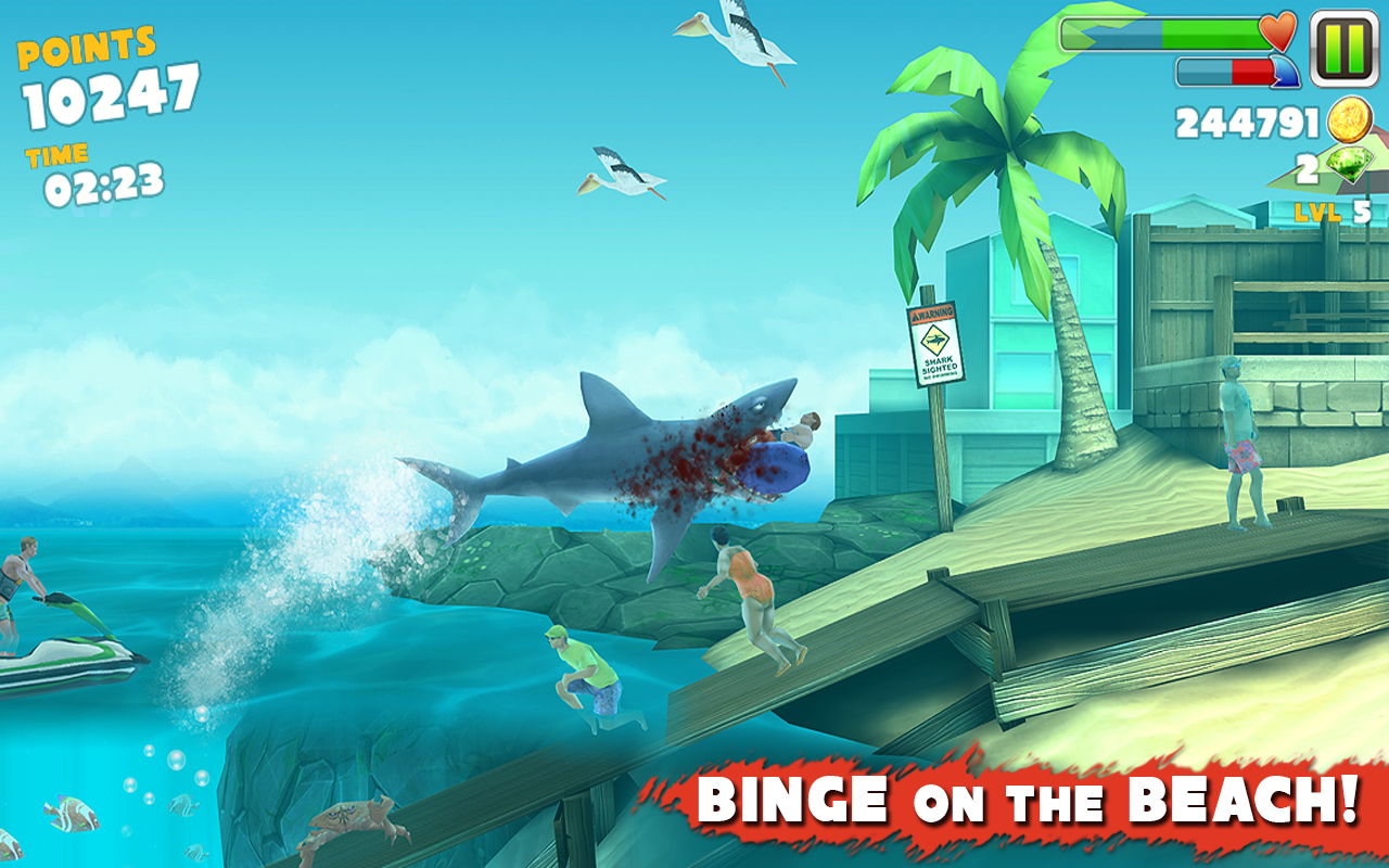 Hungry Shark Evolution Android Resim2 Hungry Shark Evolution v2.6.2 Android Hile MOD APK indir