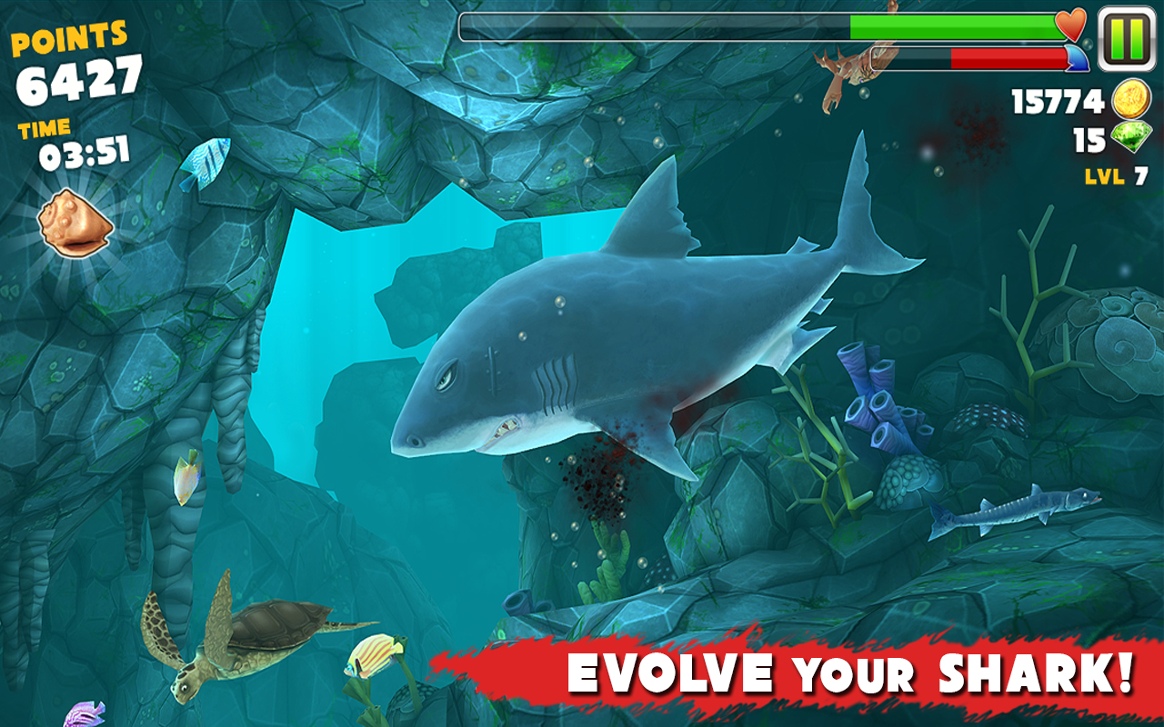 Hungry Shark Evolution Android Resim4 Hungry Shark Evolution v2.6.2 Android Hile MOD APK indir