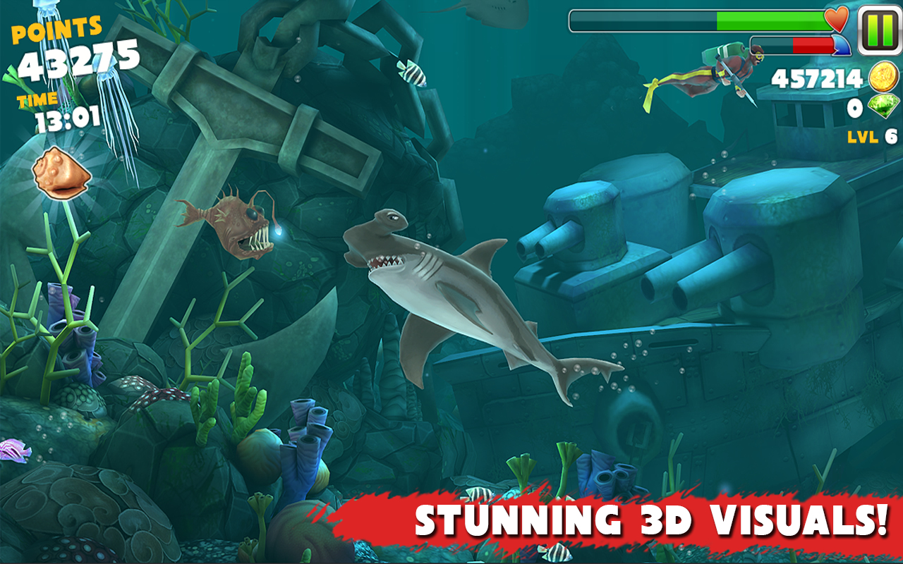 Hungry Shark Evolution Android Resim6 Hungry Shark Evolution v2.6.2 Android Hile MOD APK indir